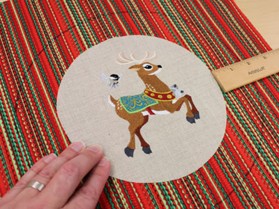 Free project instructions to embroider ho ho holiday hoopla decor.