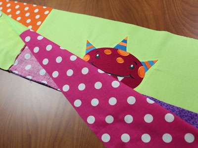 Free project instructions to make an On the Edge Quilt.