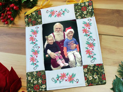 Free project instructions to make a Quilted Photo Frame.