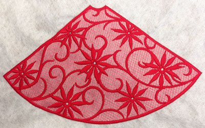 Free project instructions to make 3D Lace Christmas Trees.