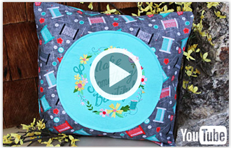 Free video with instructions on how to create an All-Around Accent Pillow.