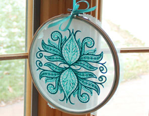 Embroidery Library - Embroidred Sun Catcher