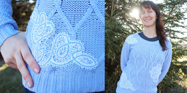 Free project instructions to add battenburg lace to garments.