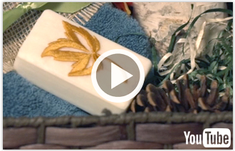 Free video with instructions on how to add embroidery to soap.
