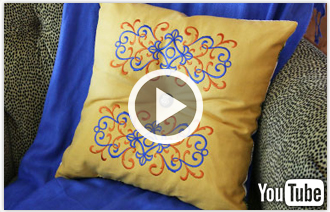 Free video with instructions on how to create an elegant tufted pillow.