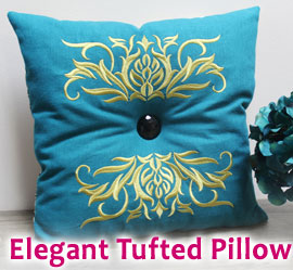 Elegant Tufted Pillow Project Tutorial