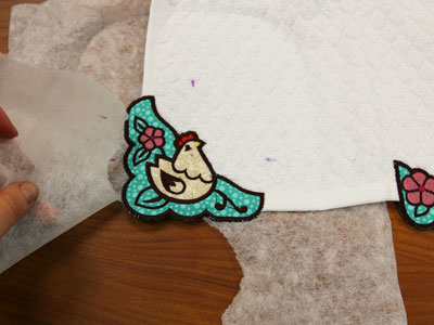 Free project instructions for embroidering edgy applique.