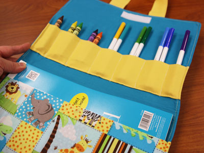 Free project instructions on how to create a coloring caddy.