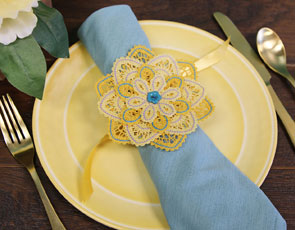 Embroidery Library - Layered Battenburg Lace Flowers