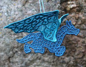 Embroidery Library - 3D Freestanding Lace Dragon