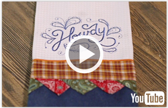 Free video with instructions on how to create a bunting tea towel.