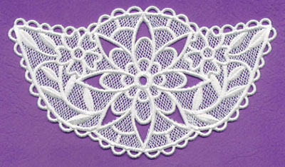 Free project instructions to create a lovely lace necklace.