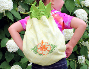 Embroidery Library - Pineapple Backpack