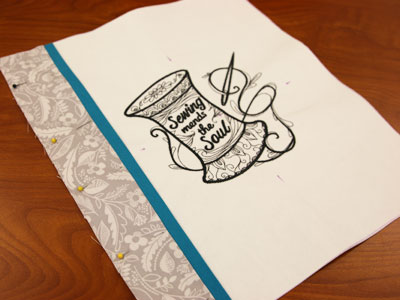 Free project instructions to create a fabric coloring book.