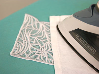 Free project instructions to create elegant lace envelopes.