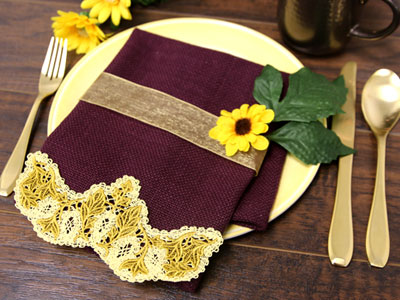 Free project instructions on how to embroider battenburg lace designs with rayon.