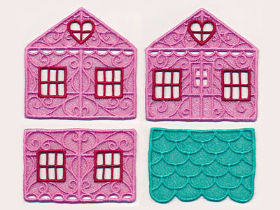 Free project instructions to create a 3D freestanding lace house.