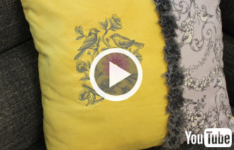 Free video with instructions on how to add embroidery to your living room.