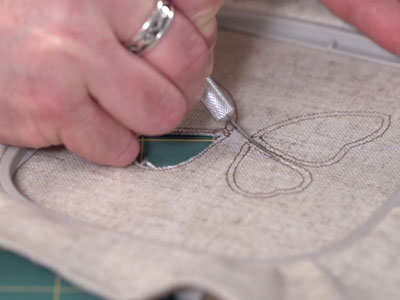 Free project instructions to create Cutwork Embroidery