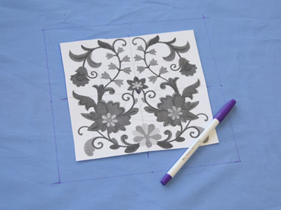 Free project instructions to create an embroidered pillow wrap.