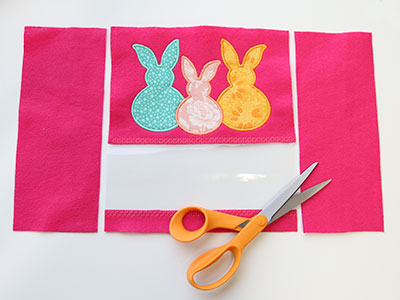 Free project instructions to create an Easter egg bag.