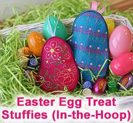 Easter Egg Stuffie Treat Holder