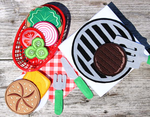 Embroidery Library - Felt Grill Set