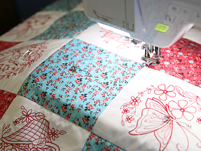 Free project instructions to create a lap quilt.