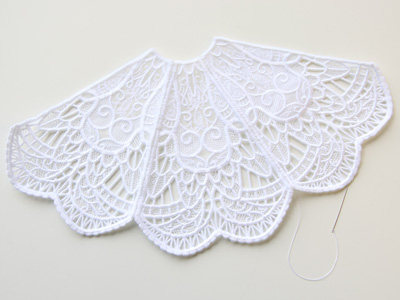 Free project instructions to create a 3D Lace & Organza Angel