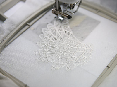 Free project instructions to create a lace & organza wings ornament.