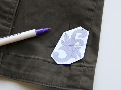 Free project instructions on how to embroider on jackets.