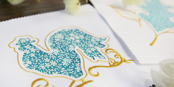 Free project instructions to stitch reverse applique embroidery.