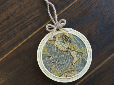 Free project instructions to create hooped embroidered organza globes.