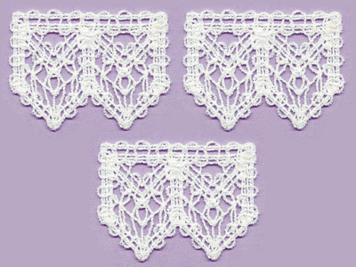Free project instructions for a lace trimmed towel.