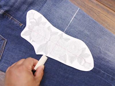 Free project instructions for stitching on denim outseam