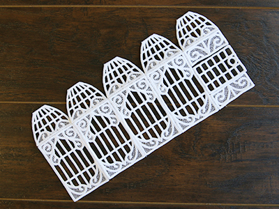 Free project instructions for creating a lace birdcage in 3D (Lace)