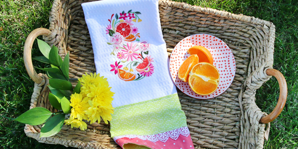 Free project instructions for creating a lacy and lovely kitchen towel.