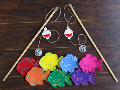 Free project instructions for creating an in-the-hoop fishing game