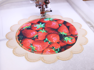Free project instructions to create an in-the-hoop applique pie trivet.