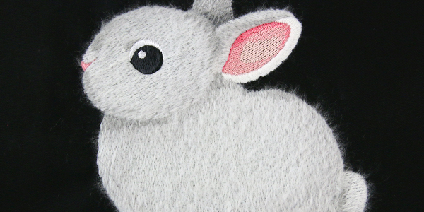 Free project instructions to create brushed embroidery.