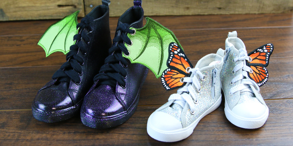 Free project instructions to create an in-the-hoop Shoe Wings.