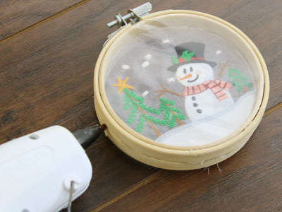 Free project instructions to create a 3 D snowglobe ornament.