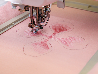 Free project instructions to create freestanding fabric embroidery.