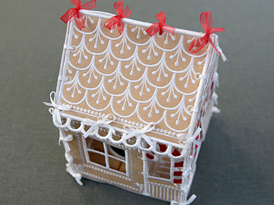 Free project instructions for creating a 3D Gingerbread House.