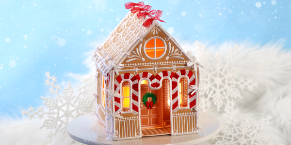 Free project instructions for creating an in-the-hoop 3D Gingerbread House.