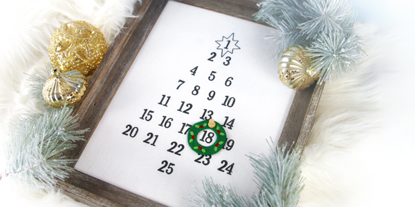 Free project instructions for creating an embroidered advent calendar.