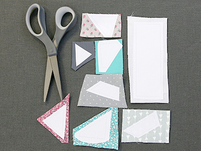 Free project instructions for creating a patchwork bookmark in-the-hoop.