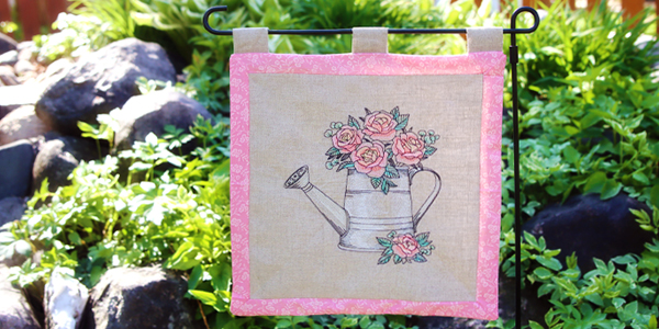 Free project instructions for creating a classic garden flag.