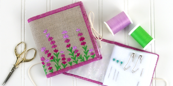 Free project instructions for creating a needle book, in-the-hoop.