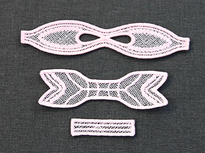 Free project instructions for creating a classic bow (lace).